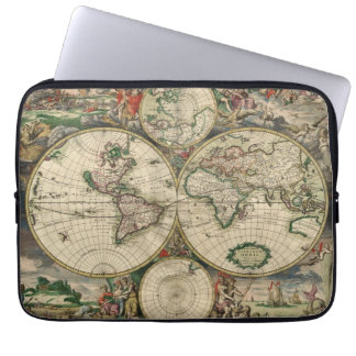 World Map from 1689 Laptop Computer Sleeves