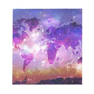 world map galaxy 1 notepad