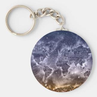 world map galaxy 2 key ring