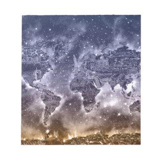 world map galaxy 2 notepad