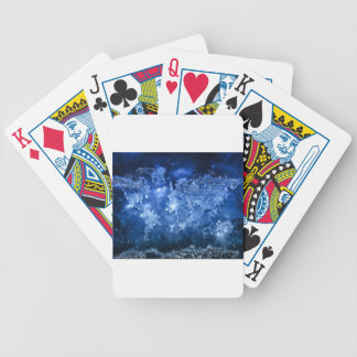world map galaxy blue 2 bicycle playing cards