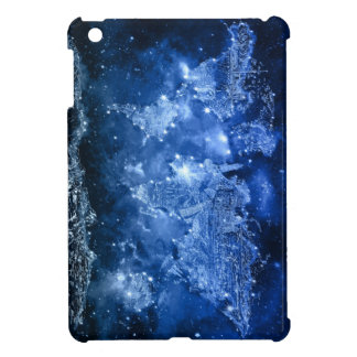 world map galaxy blue 2 cover for the iPad mini
