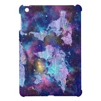 world map galaxy blue 4 iPad mini cover