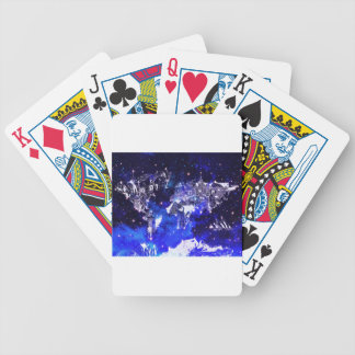 world map galaxy blue bicycle playing cards