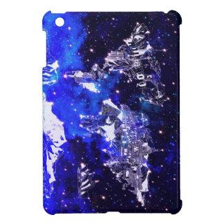 world map galaxy blue iPad mini cases