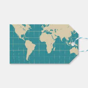 World map gift tags zazzle world map gift tag gumiabroncs Gallery
