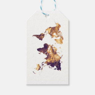 World map gift tags zazzle world map gift tags gumiabroncs Image collections