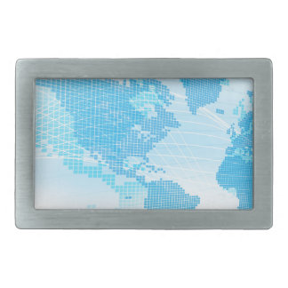 World Map Global Earth Abstract Background Belt Buckles