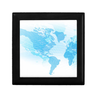 World Map Global Earth Abstract Background Gift Box