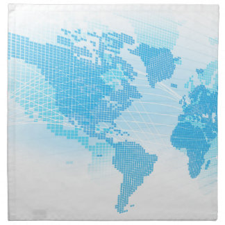 World Map Global Earth Abstract Background Napkin