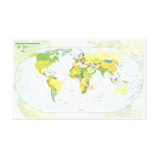 World Map Globe Atlas Countries Canvas Print