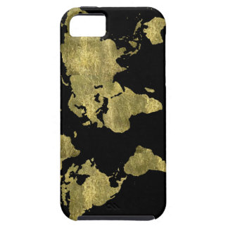 world map gold color case for the iPhone 5