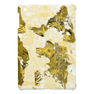 world map gold iPad mini cover