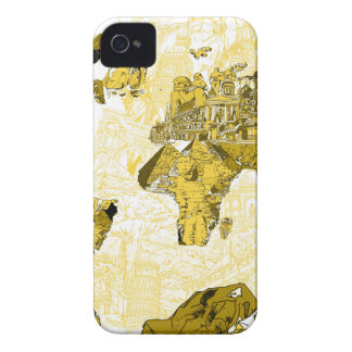 world map gold iPhone 4 case