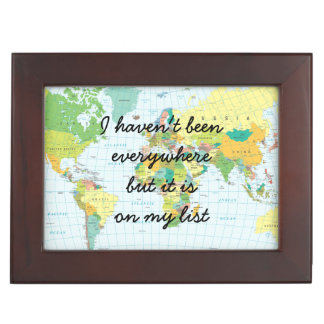 World Map - I haven't been everywhere... Keepsake Box