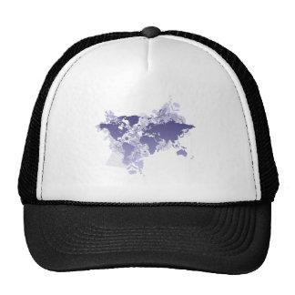 World Map in Violet Cap