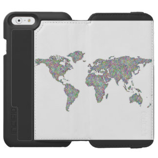 World map incipio watson™ iPhone 6 wallet case