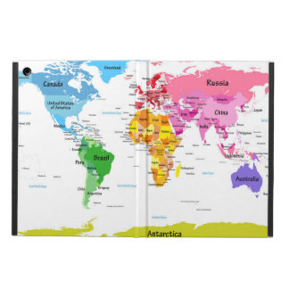 World Map iPad Air Case
