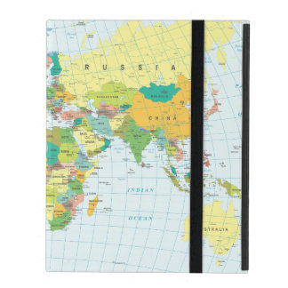 World Map iPad Case
