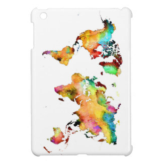 world map iPad mini cover