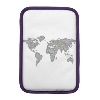 World map iPad mini sleeve