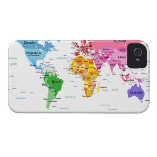 World Map iPhone 4 Cases
