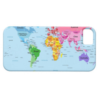 World Map iPhone 5/5S Covers