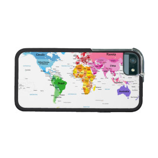 World Map iPhone 5 Case