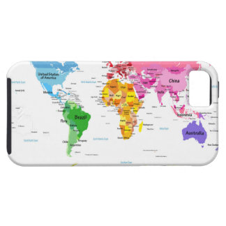 World Map iPhone 5 Covers