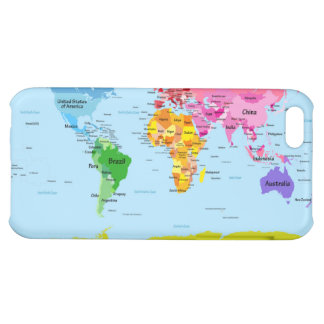 World Map iPhone 5C Case
