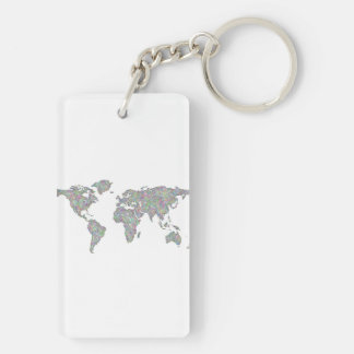 Global maps key rings global maps key ring designs zazzle world map key ring gumiabroncs Image collections