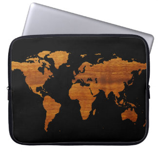world map laptop computer sleeves