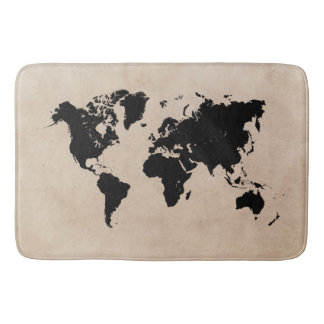 world map Large Bath Mat Bath Mats