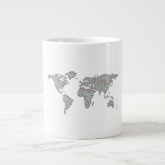World map large coffee mug