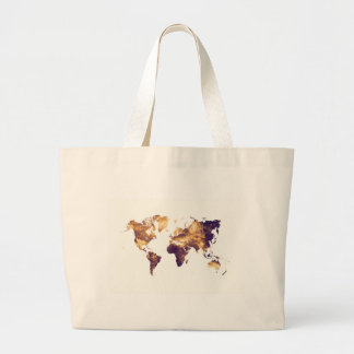 world map large tote bag