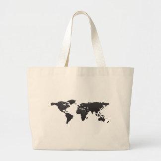 World Map Large Tote Bag
