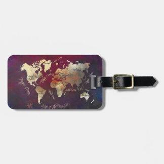 world map Luggage Tag