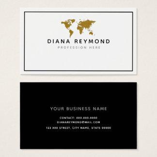 world map modern professional business card