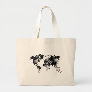 WORLD MAP - Moon Craters Jumbo Tote Bag