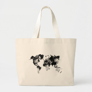 WORLD MAP - Moon Craters Large Tote Bag