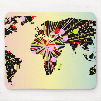 World Map New Year Mouse Pad