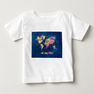 world map OCEANS and continents Baby T-Shirt