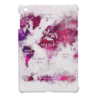 world map OCEANS and continents iPad Mini Cover
