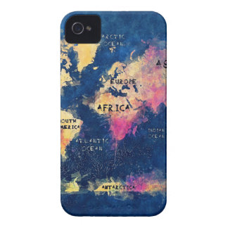 world map OCEANS and continents iPhone 4 Case