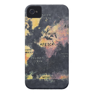 world map OCEANS and continents iPhone 4 Covers