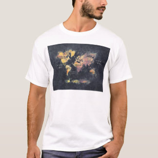 world map OCEANS and continents T-Shirt