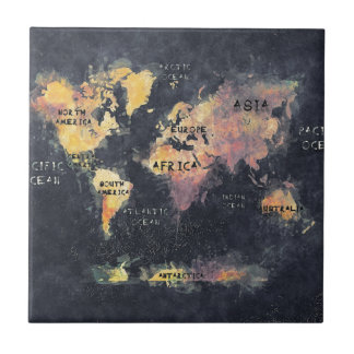 world map OCEANS and continents Tile