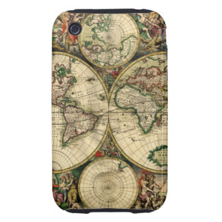World Map of 1689 Gifts Tough iPhone 3 Case