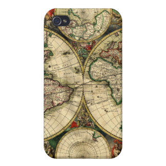 World Map of 1689 Gifts iPhone 4/4S Covers