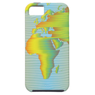 World map of rainbow bands iPhone 5 covers